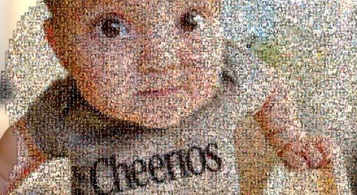cheerios mosaic clip