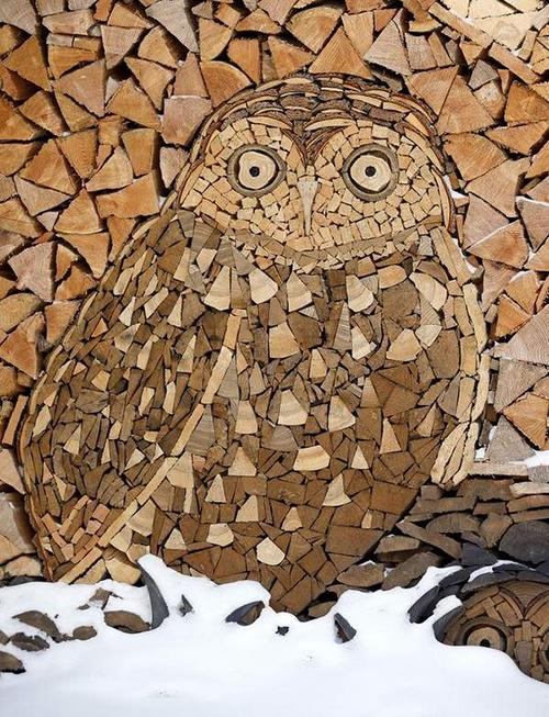 Gary Tallman Cordwood Mosaics