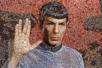The Spock Photo Mosaic Tribute
