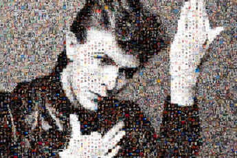 David Bowie Photo Mosaic Tribute