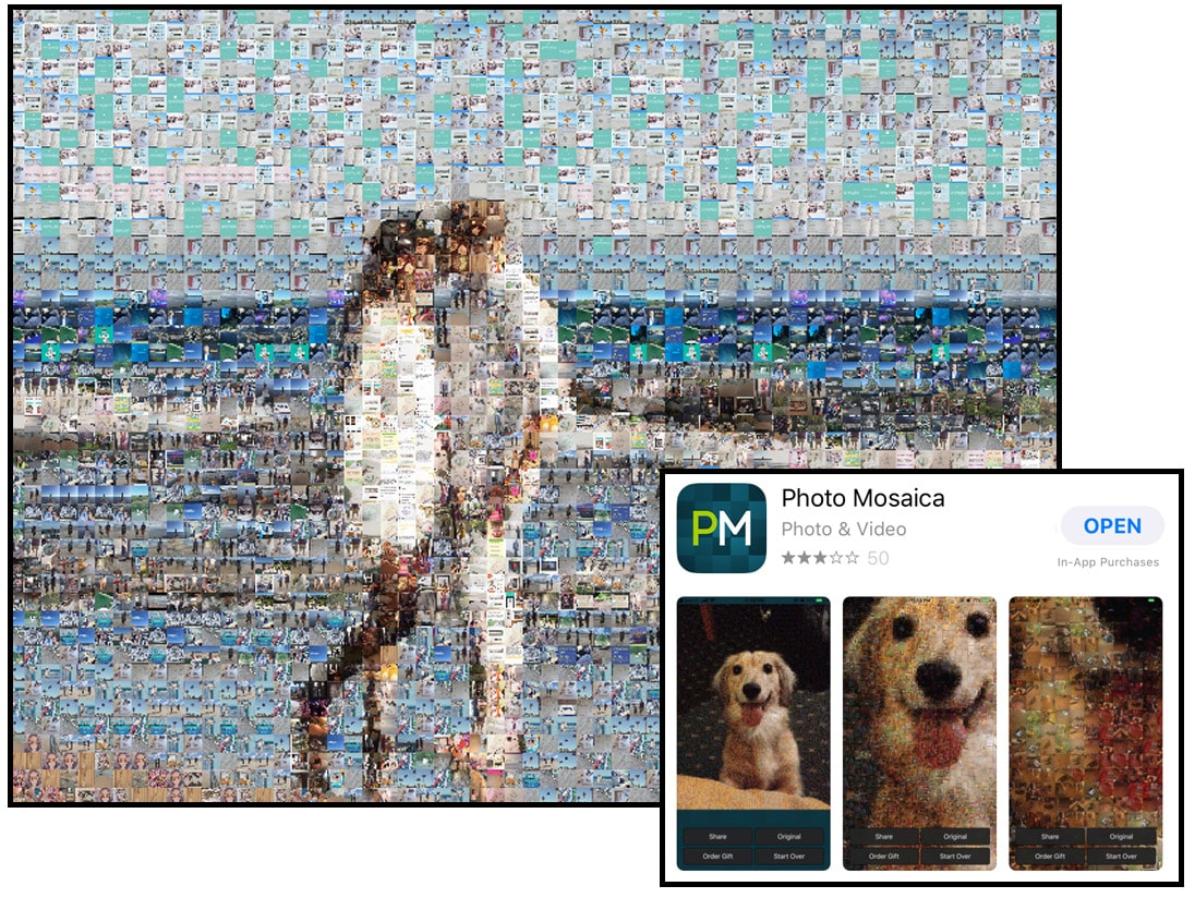 Photo Mosaics Apps, Mobile, Free, Review, iOS, iPhone